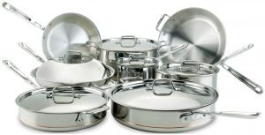 All Clad Copper Core 5 Ply Bonded Cookware Set