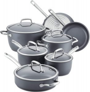 Anolon Accolade Hard Anodized Precision Forge Cookware 12 Piece Set