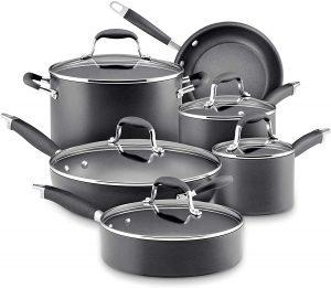 Anolon Advanced Hard Anodized Cookware Pots And Pans Set 11 Piece