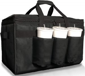 Freshie Insulated Food Delivery Bag With Cup Holders
