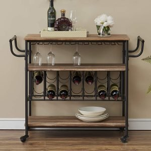 Homeshopy Industrial Bar Cart