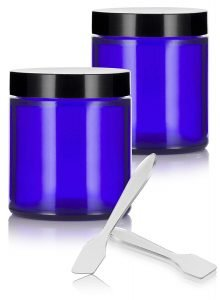 Juventus Cobalt Blue Glass Air Tight Containers