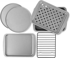 Ovenstuff Non Stick 6 Piece Toaster Oven Baking Pan Set