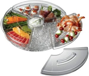Prodyne Appetizer Tray On Ice With Lids
