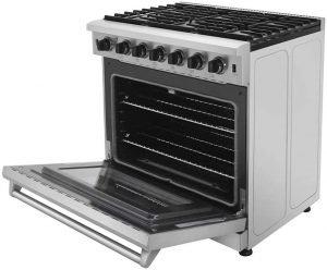 Thor Kitchen 36 Inch Freestanding Pro Style Professional Gas Range