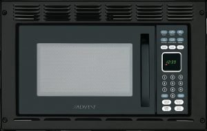 Advent Black Built In Microwave Oven With Wide Trim Kit