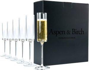 Aspen & Birch Modern Champagne Flutes