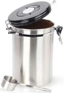 Braviie Gorgeous Stainless Steel Storage Coffee Canister