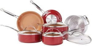 Bulbhead Red Copper Infused Ceramic Set