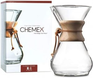 Chemex Pour Over Glass Coffeemaker Classic Series 8 Cups