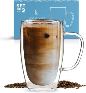Cappuccino Glass Mugs By Kitchables