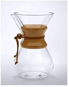 Chemex Pour Over Glass Coffeemaker Classic Series 6 Cups