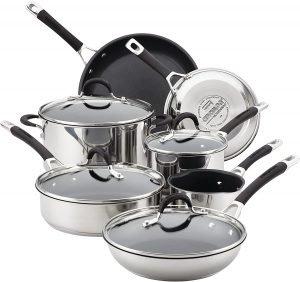 Circulon Momentum Stainless Steel Nonstick Cookware Set