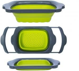 Collapsible Green Colander