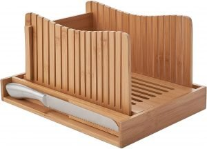 Comellow Wooden Bread Slicer
