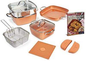 Copper Chef 12 Piece Non Stick Cookware Set