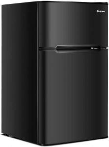 Costway Compact Refrigerator Freezer Combo