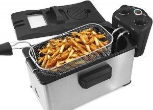 Elite Gourmet Edf 3500 Stainless Steel Triple Basket Electric Deep Fryer