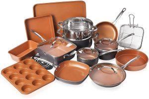 Gotham Steel Bakeware + Cookware Set