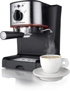 Hamilton Beach Espresso Machine, Latte And Cappuccino Maker