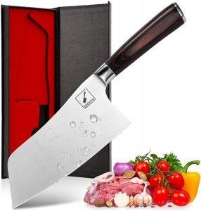 Imarku German Cleaver Carbon Steel Butcher Knife
