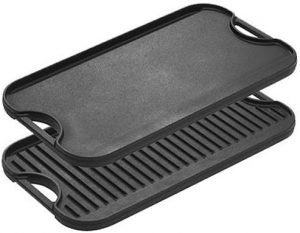 Lodge Pre Seasoned Cast Iron Reversible Grill Griddle