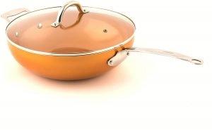 Master Pan Copper Tone Non Stick Wok