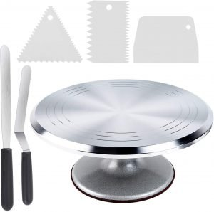 Ohuhu Cake Stand And Revolving Turntable