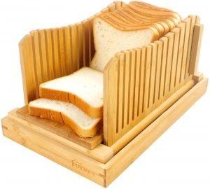 Purenjoy Bamboo Bread Slicer