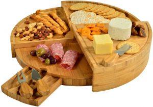 Picnic At Ascot Patented Bamboo Cheese Board