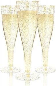 Prestee Plastic Champagne Flutes Glasses