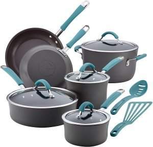 Rachael Ray Hard Anodized Cookware Pots And Pans Set