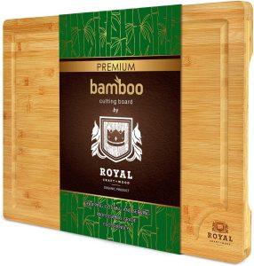 Royal Craft Extra Large Organic Bamboo Cutting Board