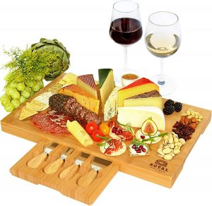 Royal Craft Wood Unique Bamboo Cheese Board