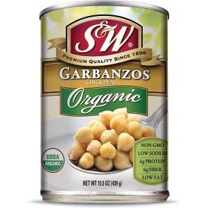 S & W Canned Organic Garbanzo Beans