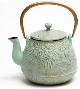 Toptier Japanese Stainless Steel Cast Iron Teapot