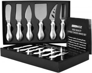 Wonenice Premium 6 Piece Cheese Knife Set
