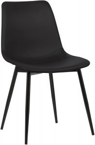 Armen Living Monte Dining Chair In Black Faux Leather