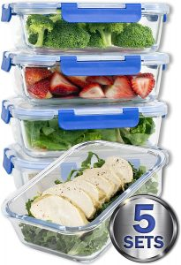 Colibrox Glass Meal Prep Containers