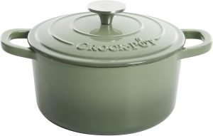 Crock Pot Artisan Round Enameled Cast Iron Dutch Oven