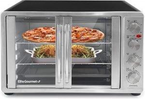 Elite Gourmet Double French Door Countertop Convection Oven
