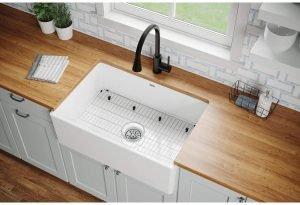 Elkay Fireclay Single Bowl Farmhouse Sink