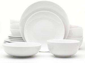 Euro Ceramica Essential Collection Porcelain Dinnerware Set