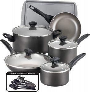 Farberware Pewter Non Stick Cookware Set