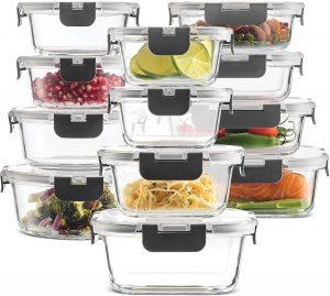 Finedine Airtight Glass Food Storage Containers