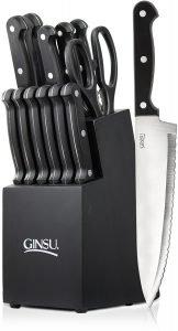 Ginsu Essential Series 14 Piece Stainless Steel Serrated Knife Set
