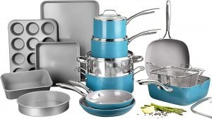 Gotham Steel Ocean Blue Pots And Pans Set