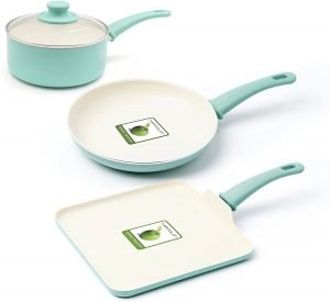 Greenlife Soft Grip Absolutely Toxin Free Healthy Ceramic Nonstick Cookware Pots And Pans Set