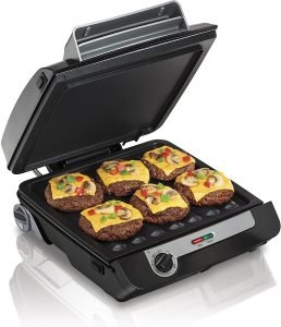 Hamilton Beach 4 In 1 Indoor Grill & Electric Griddle Combo