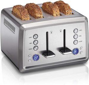 Hamilton Beach Digital 4 Slice Extra Wide Slot Stainless Steel Toaster